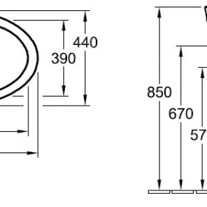 Раковина Villeroy & Boch Aveo new generation 4132 60R1 alpin CeramicPlus